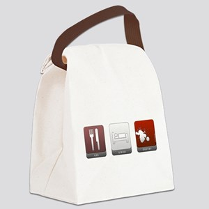 Eat Sleep Dexter Canvas Lunch Bag