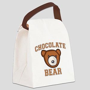 Chocolate Bear Canvas Lunch Bag