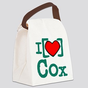 I Heart Cox Canvas Lunch Bag