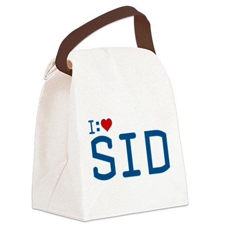 I Heart Sid Canvas Lunch Bag