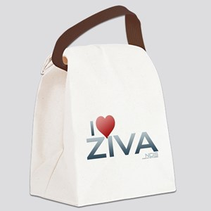 I Heart Ziva Canvas Lunch Bag