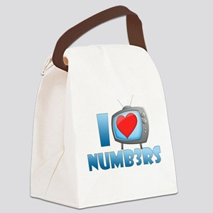I Heart Numb3rs Canvas Lunch Bag