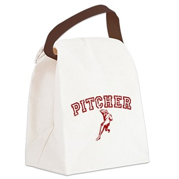 Pitcher - Red Canvas Lunch Bag