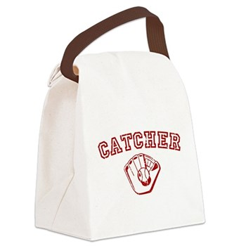Catcher - Red Canvas Lunch Bag