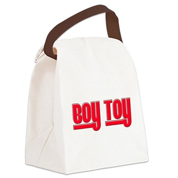 Boy Toy - Red Canvas Lunch Bag