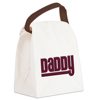 Daddy - Red Canvas Lunch Bag