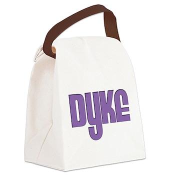 Purple Dyke Canvas Lunch Bag