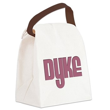 Pink Dyke Canvas Lunch Bag