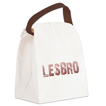Red Lesbro Canvas Lunch Bag