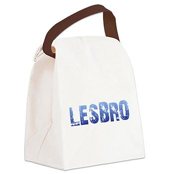 Blue Lesbro Canvas Lunch Bag