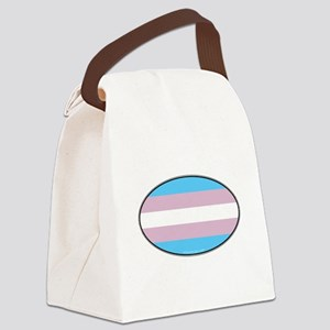 Oval Transgender Pride Canvas Lunch Bag