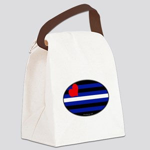 Oval Leather Pride Flag Canvas Lunch Bag