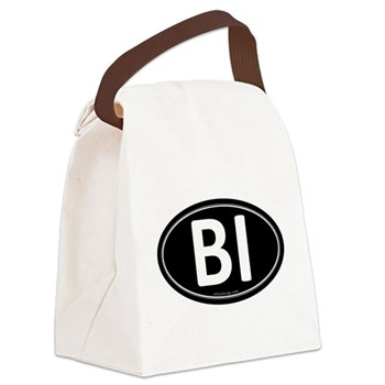 BI Black Euro Oval Canvas Lunch Bag
