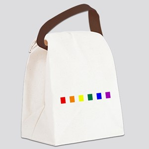 Rainbow Pride Squares Canvas Lunch Bag