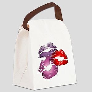 Three Big Lips Canvas Lunch Bag