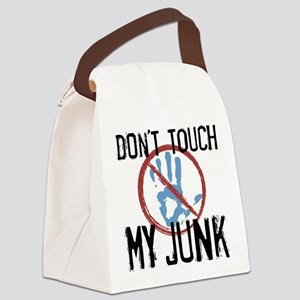 Don't Touch My Junk Canvas Lunch Bag