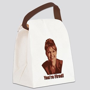Sarah Palin - You're Fired! Canvas Lunch Bag