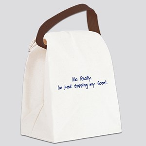 Just tapping... Canvas Lunch Bag