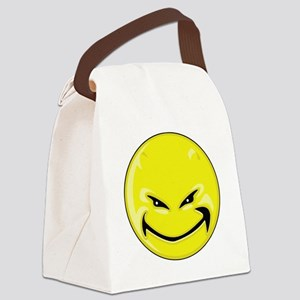Smiley Face - Yellow Devil Canvas Lunch Bag