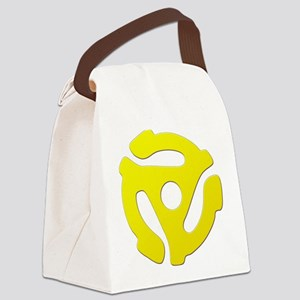 Yellow 45 RPM Adapter Canvas Lunch Bag