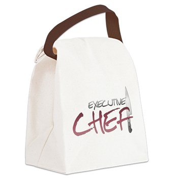 Red Executive Chef Canvas Lunch Bag
