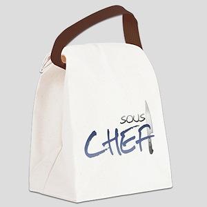 Blue Sous Chef Canvas Lunch Bag