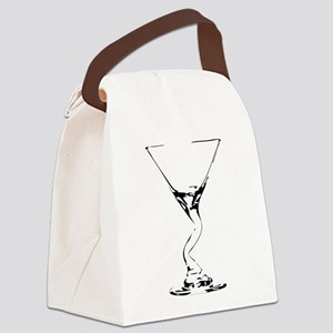 Bent Martini Glass Canvas Lunch Bag