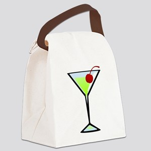Green Apple Martini Canvas Lunch Bag