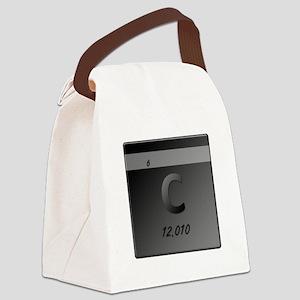Carbon (C) Canvas Lunch Bag