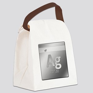 Silver (Ag) Canvas Lunch Bag