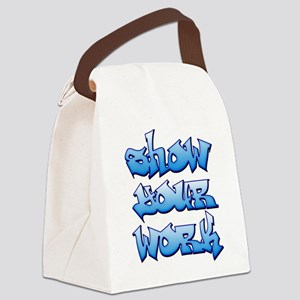 Show Your Work Graffiti Canvas Lunch Bag