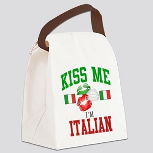 Kiss Me I'm Italian Canvas Lunch Bag
