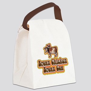 Brown Chicken Brown Cow Canvas Lunch Bag