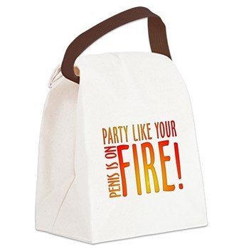 Party Like Your Penis is on F Canvas Lunch Bag