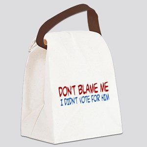 I Didn't Vote for Him Canvas Lunch Bag