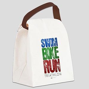 Swim, Bike, Run - Triathlon Canvas Lunch Bag