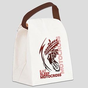 Eat Sleep Motocross Canvas Lunch Bag