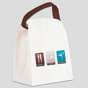 Eat, Sleep, Gymnastics Canvas Lunch Bag