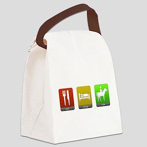 Eat, Sleep, Ride Canvas Lunch Bag