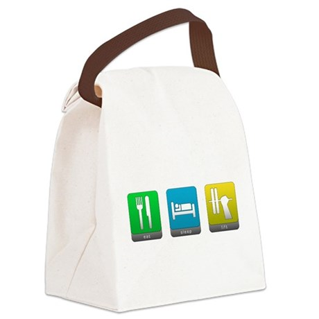 Eat, Sleep, Lift Canvas Lunch Bag
