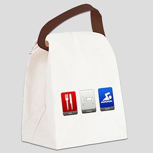 Eat, Sleep, Swim Canvas Lunch Bag