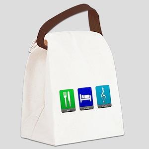 Eat, Sleep, Music Canvas Lunch Bag