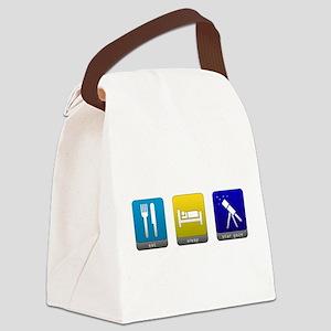 Eat, Sleep, Stargaze Canvas Lunch Bag