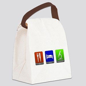 Eat, Sleep, Science Canvas Lunch Bag