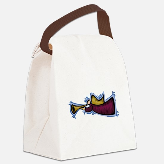 Trumpeting Angel Canvas Lunch Bag