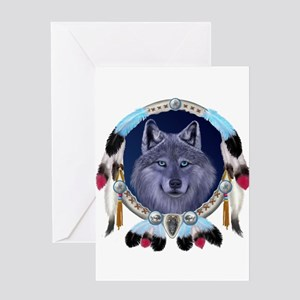 Dream Wolf Greeting Card