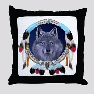 Dream Wolf Throw Pillow