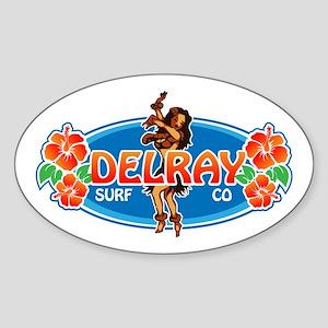 Delray Surf Company Logo Sticker (Oval)