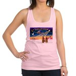 XmasSunrise/2 Airedales Racerback Tank Top