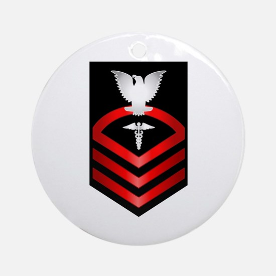 Navy Chief Hospital Corpsman Ornament (Round)